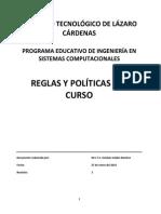 Reglas y Políticas Del Curso 04-08-2014