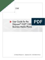 User Guide for the Polycom VVX 1500 Business Media Phone