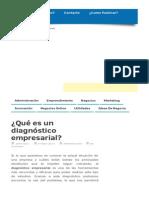 ¿Qué Es Un Diagnóstico Empresarial [1]