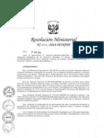 RM 262 2014 Reglamento CNCC