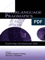 Interlanguage Pragmatics Bardovi-Harlig&Hartford LB