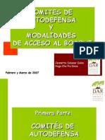 Comités de Autodefensa y Acceso Al Bosque