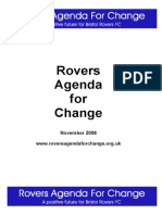 Rovers Agenda for Change