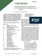 Estimación de Parámetros Eléctricos de Un Motor de Inducción