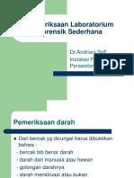 Pemeriksaan Laboratorium Forensik Sederhana