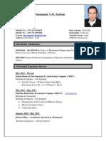 Mechanical Engineer CV(Mohammad Zaitoun)