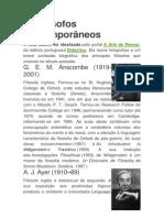 50 filósofos contemporâneos