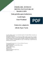 La Poesia Del at Pautas Para Su Traduccion (Zogbo-Wendland)