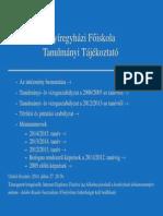 Nyíregyházi Főiskola - Tanulmányi Tájékoztató
