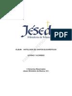 Letras CD Antologia de Cantos Eucaristicos