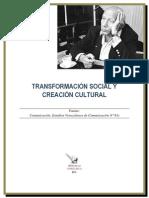 Transformacion Social y Creacion Cultural
