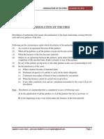 Disssolution of partnership firm