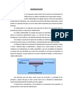 Informe de Sedimentadores
