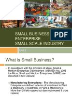 Small Business_BE Unit VI