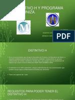 Distintivo h y Moderniza