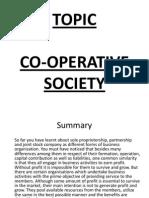 (5)Co Operative Society