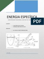 Imforme Hidraulica 4 - Energia Especifica