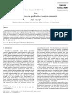 [RN] Decrop 1999 - Triangulation in Qualitative Tourism Research
