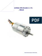 DC Motor With Encoder Manual (1.1 W)