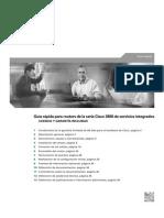 Guía rápida para routers de la serie Cisco 3800 de servicios integrados - 38 pag