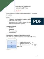 Chromatographic Separations Basics