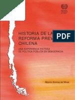 Historia de La Reforma Previsional Chilena