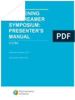 Symposium Presenter's Manual