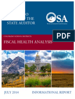 Colorado School Districts Fiscal Health Analysis
