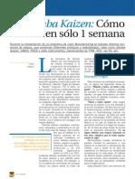 Gemba Kaizen Cómo Actuar en Sólo 1 Semana Investigacion Articulos Industria PDF