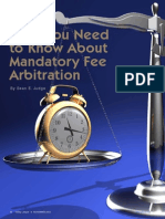 What You Need to Know About Mandatory Fee Arbitration