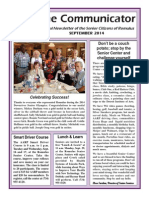 Communicator Senior Newsletter - September 2014