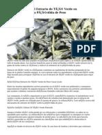 Cómo Utilizar el Extracto de Té Verde en Cápsulas para la Pérdida de Peso