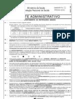 Prova 15 - Agente Administrativo - Com Gabarito 1 - Azul