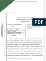 14-08-27 Order Denying Apple Motion for Permanent Injunction Against Samsung