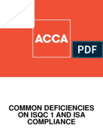 ICPAC Presentation - Common Deficiencies on ISQC 1 and ISA Compliance Nov 13