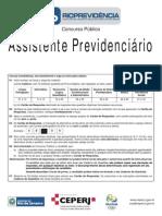 Ceperj 2014 Rioprevidencia Assistente Previdenciario Prova