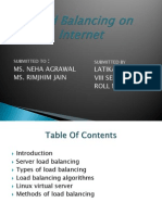 Load Balancing on Internet