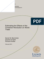 Estimating the Effects of the Container Revolution on World Trade