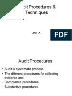 Audit Procedures & Techniques