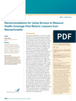 Recommendations for Using Surveys to Measure Health Coverage Post-Reform