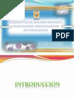 Diagnostico de Malaria Mediante Analizadores Hematologicos Automatizados
