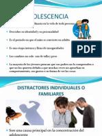 Distractores Del Aprendizaje en La Adolescencia
