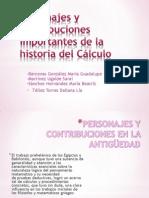 Personajes y Contribuciones Importantes de La Historia Del