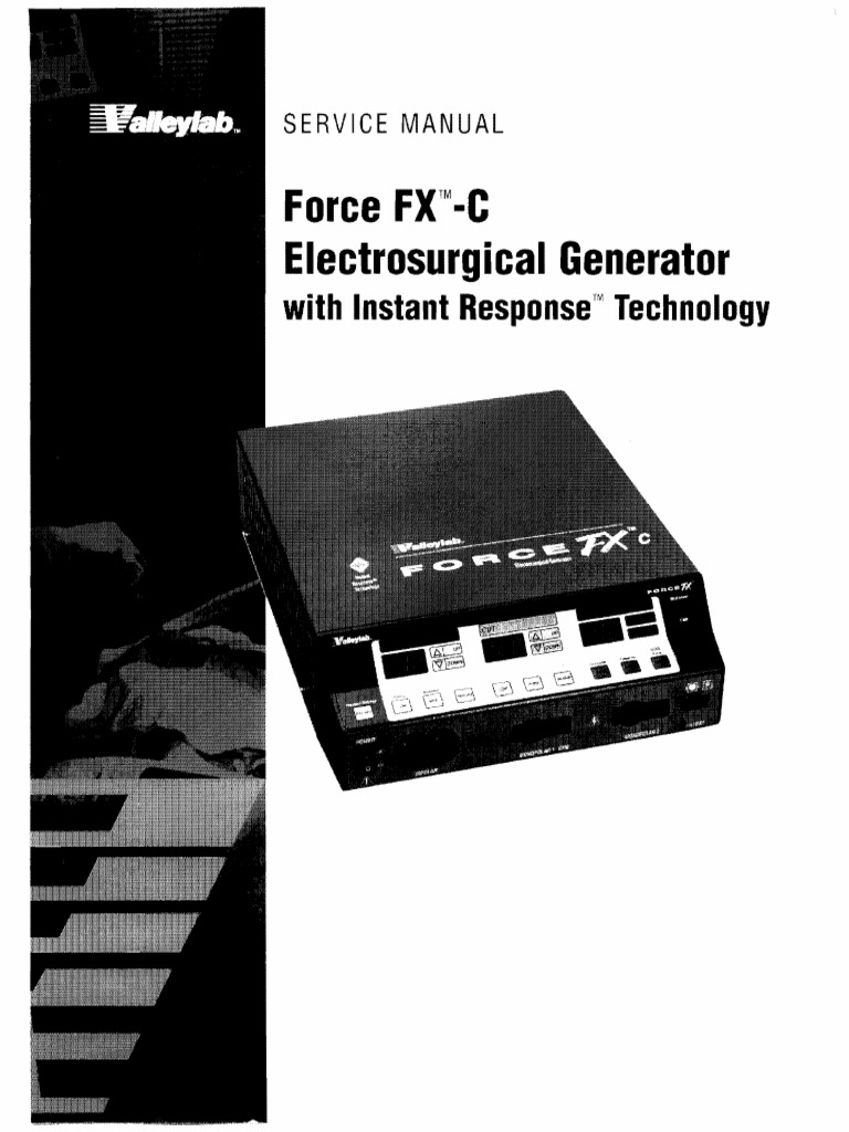 Valleylab Force Fx C Service Manual1 Electric Power Electrical Standard 1n4007 Vs Schottky 1n5819 Electronics Club Fans Engineering
