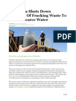 huffington post - california shuts down injection of fracking waste to protect scarce water