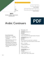 2013 Hsc Arabic Cont