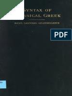 Gildersleeve Syntax of Classical Greek