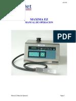 Maxima EZ Manual de Operación