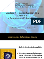 05_Unidade 1 – Contextualizando a Ciência e A
