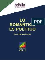 Lo Romántico Es Político - Coral Herrera Gómez